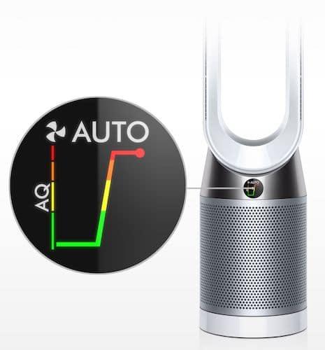 control calidad del aire purificador dyson